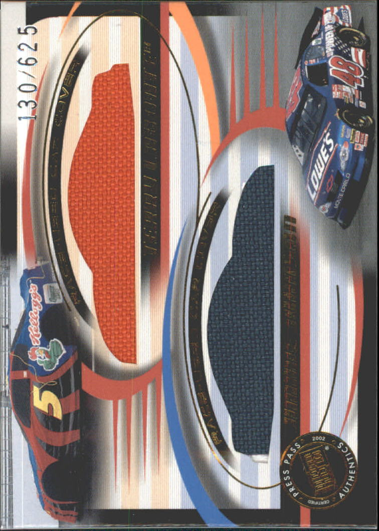 2002 Press Pass Eclipse Under Cover Double Cover #DC5 Terry Labonte/Jimmie Johnson