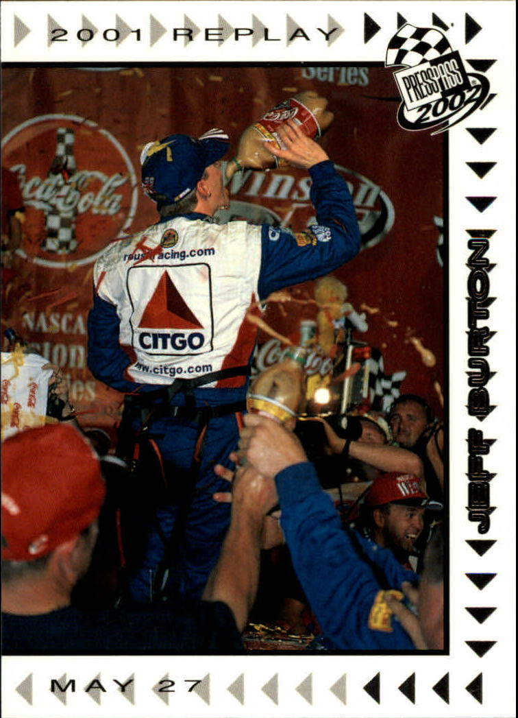 2002 Press Pass #67 Jeff Burton REP front image