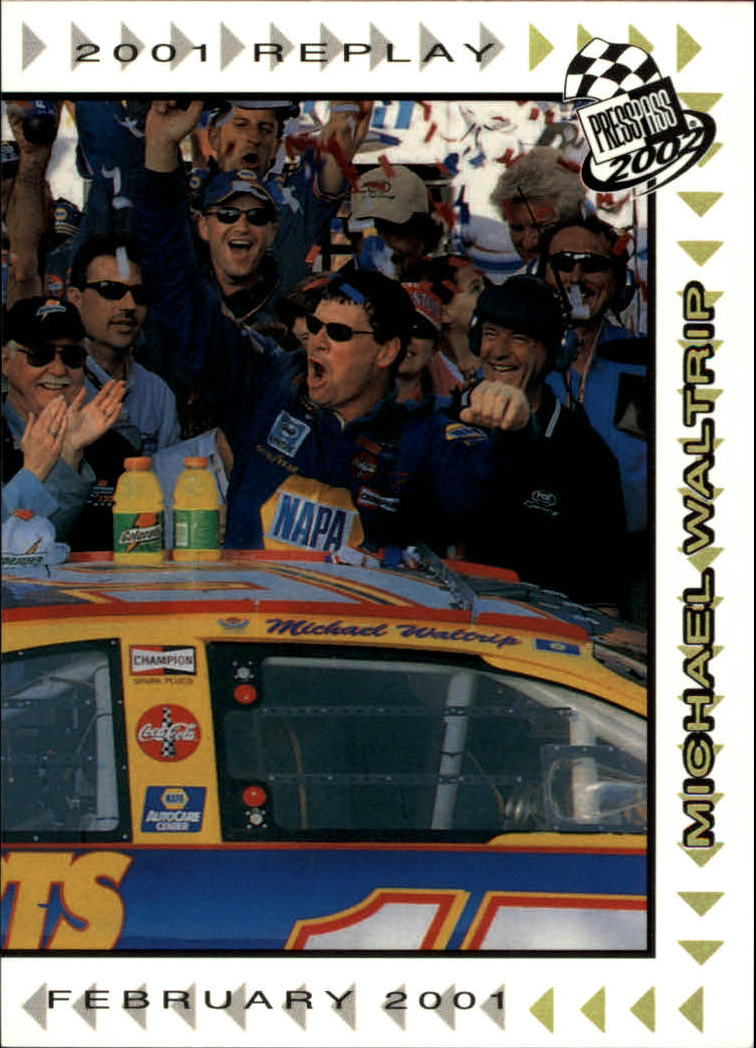 2002 Press Pass Platinum #64 Michael Waltrip REP