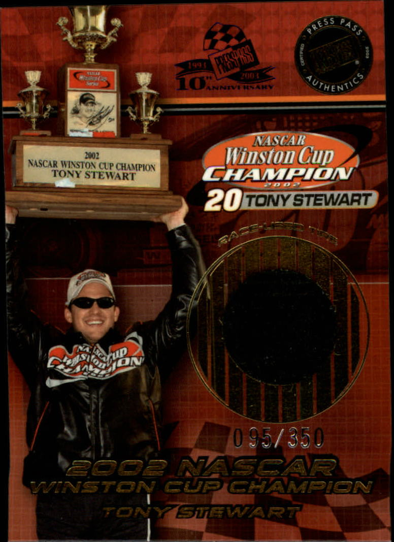 2002 Press Pass Cup Chase Prizes #CC15 Tony Stewart