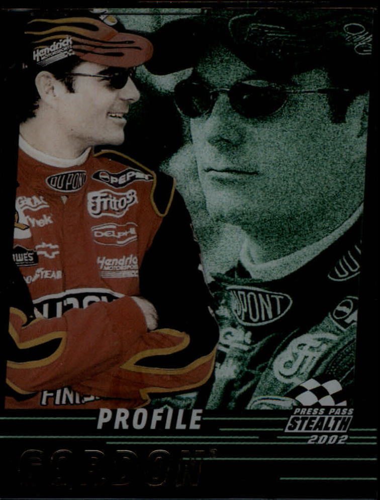 2002 Press Pass Stealth Profile #P1 Jeff Gordon