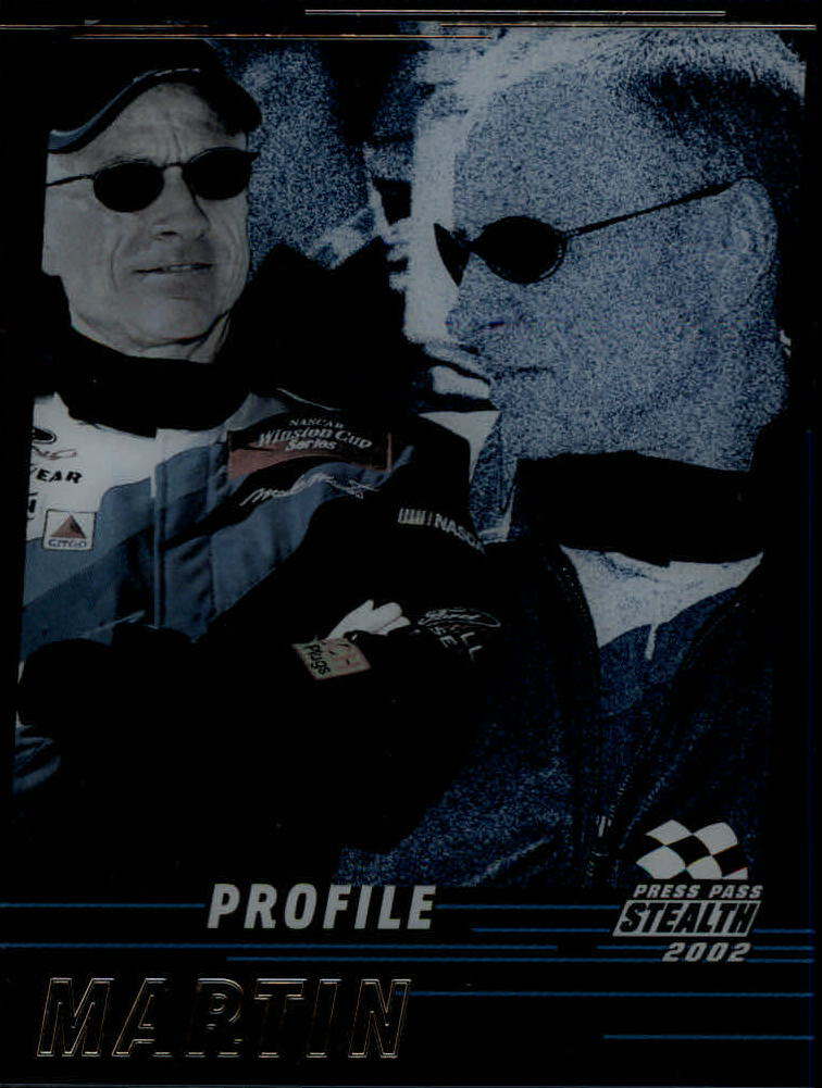 2002 Press Pass Stealth Profile #P2 Mark Martin