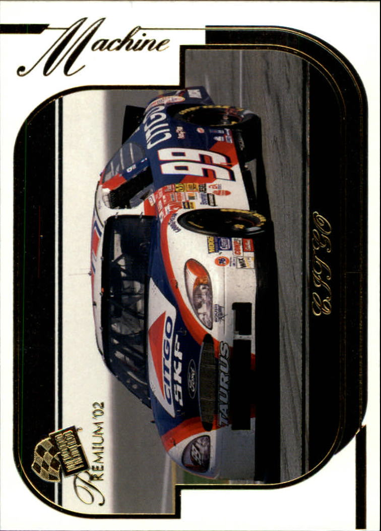 2002 Press Pass Premium #37 Jeff Burton's Car front image