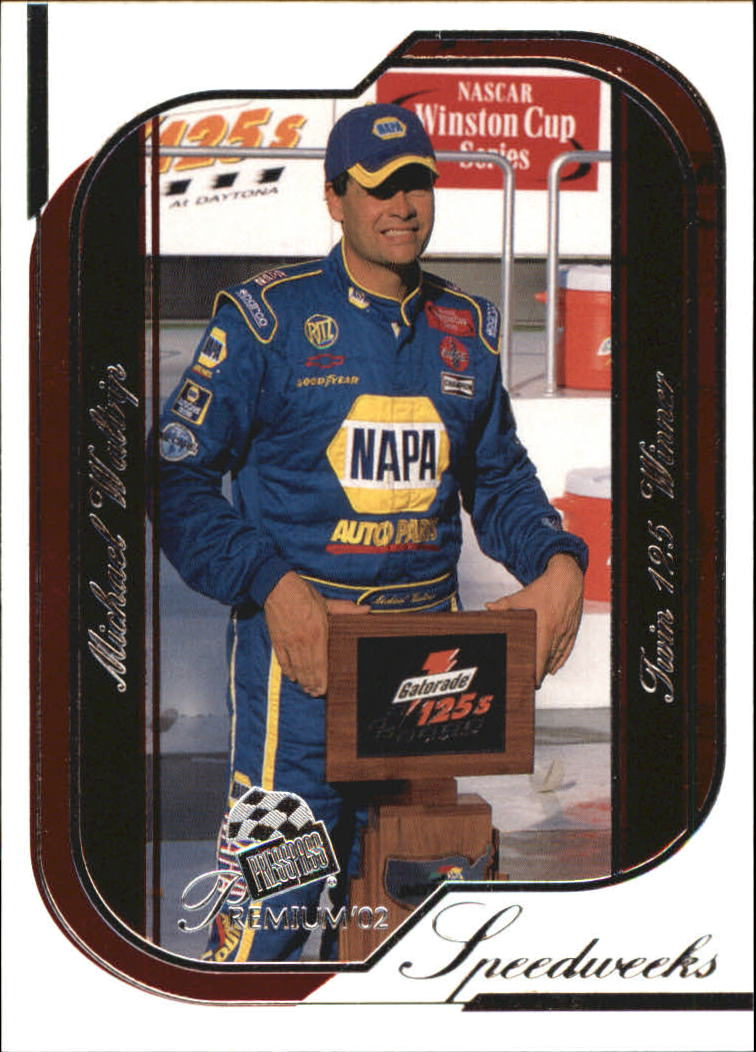 2002 Press Pass Premium Red Reflectors #47 Michael Waltrip SW