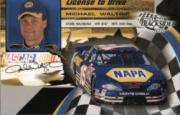 2002 Press Pass Trackside License to Drive #35 Michael Waltrip front image