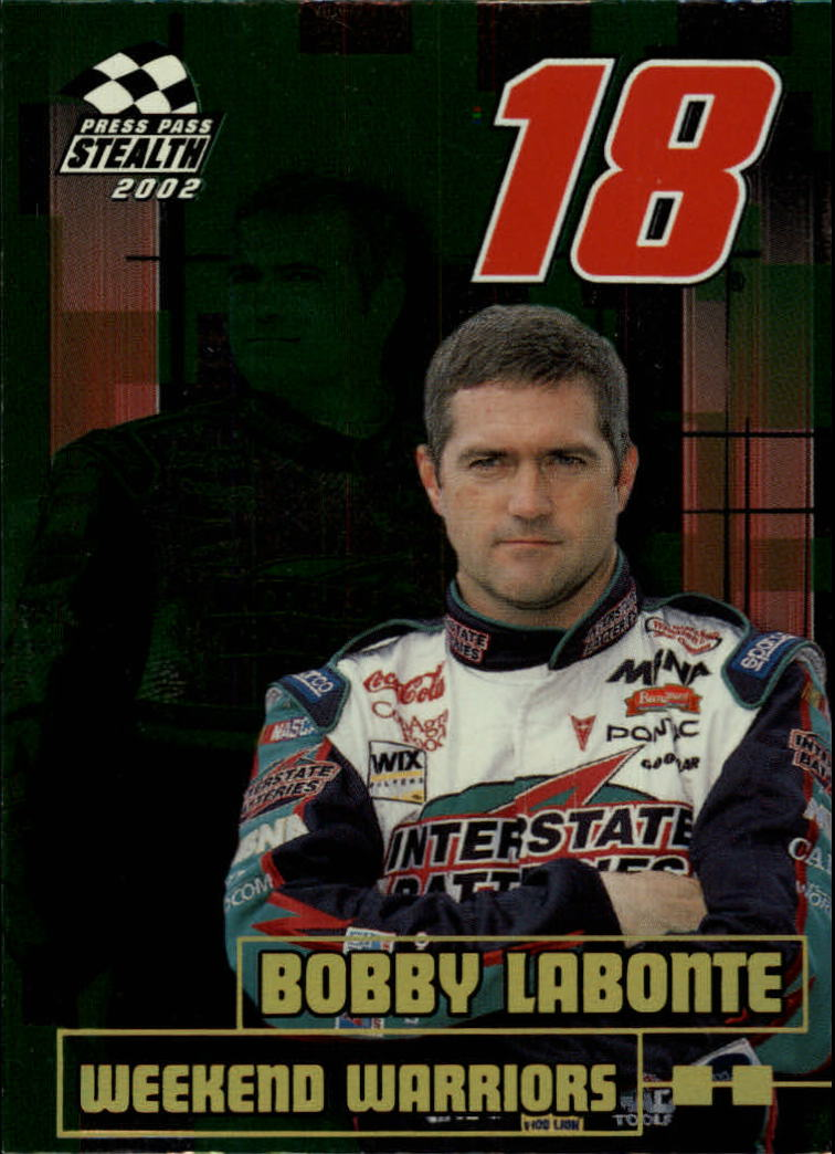 2002 Press Pass Stealth Gold #66 Bobby Labonte WW
