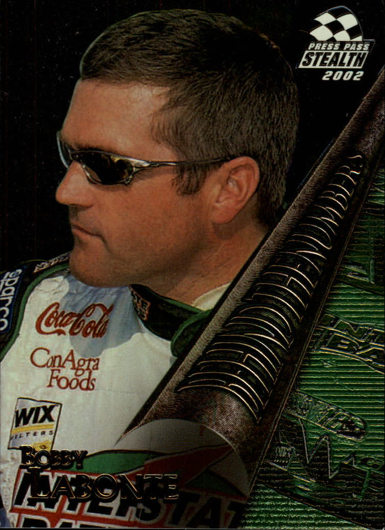 2002 Press Pass Stealth Behind the Numbers #BN8 Bobby Labonte