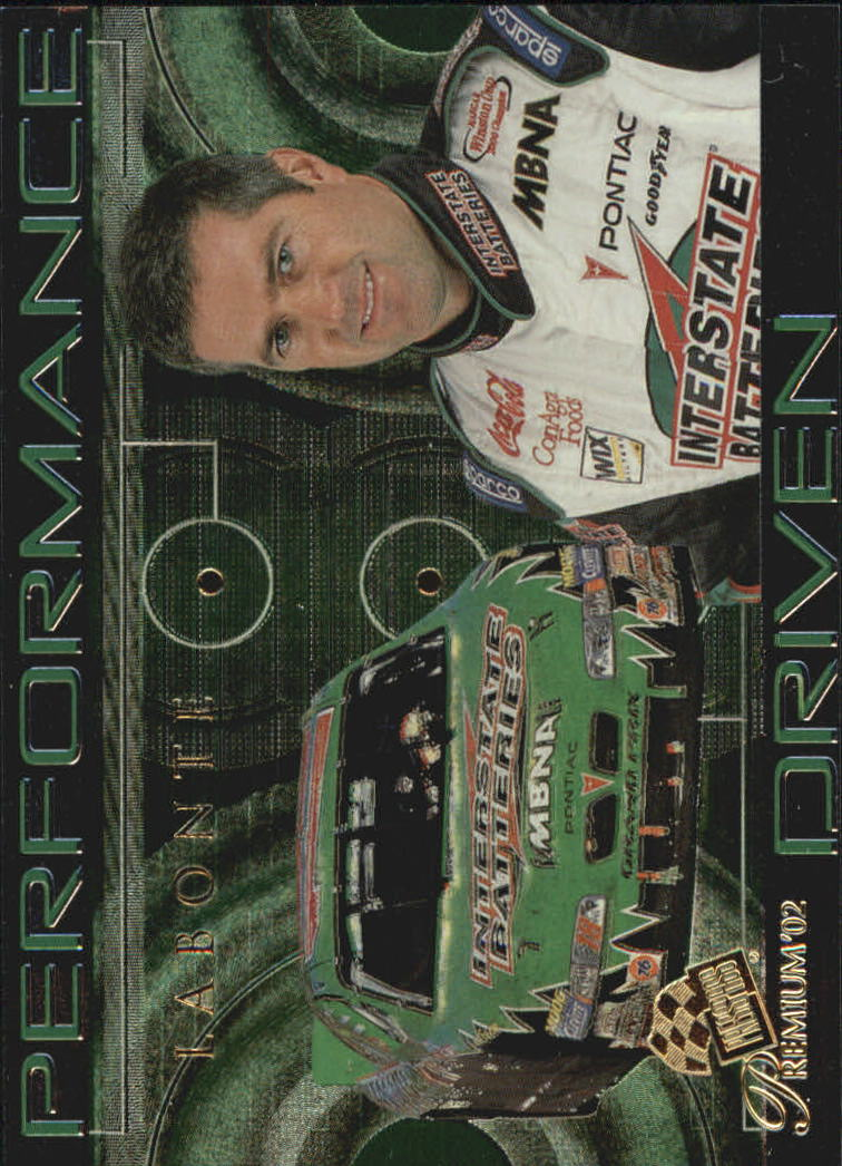 2002 Press Pass Premium Performance Driven #PD5 Bobby Labonte