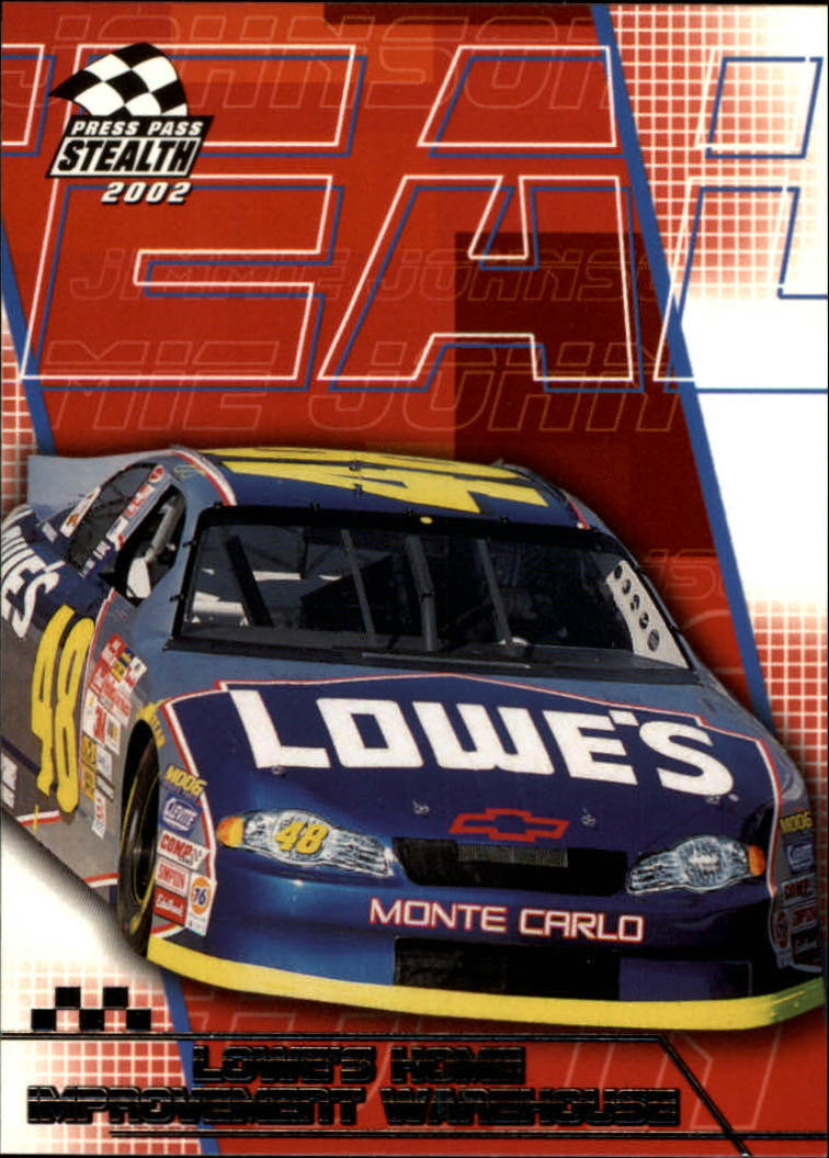 2002 Press Pass Stealth #38 Jimmie Johnson's Car