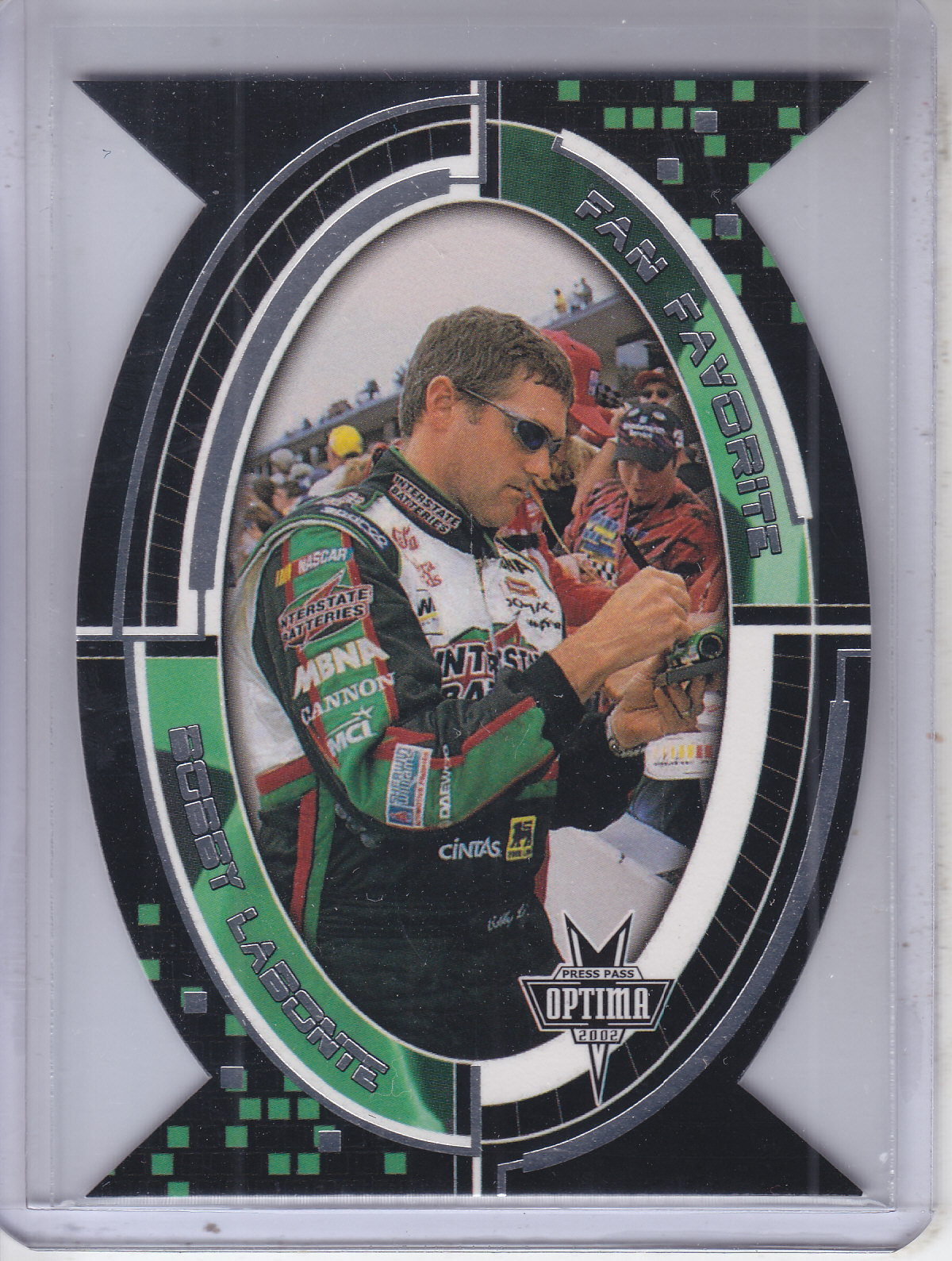 2002 Press Pass Optima Fan Favorite #FF13 Bobby Labonte