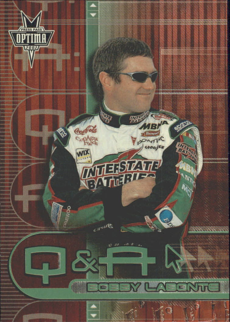 2002 Press Pass Optima Q and A #QA5 Bobby Labonte