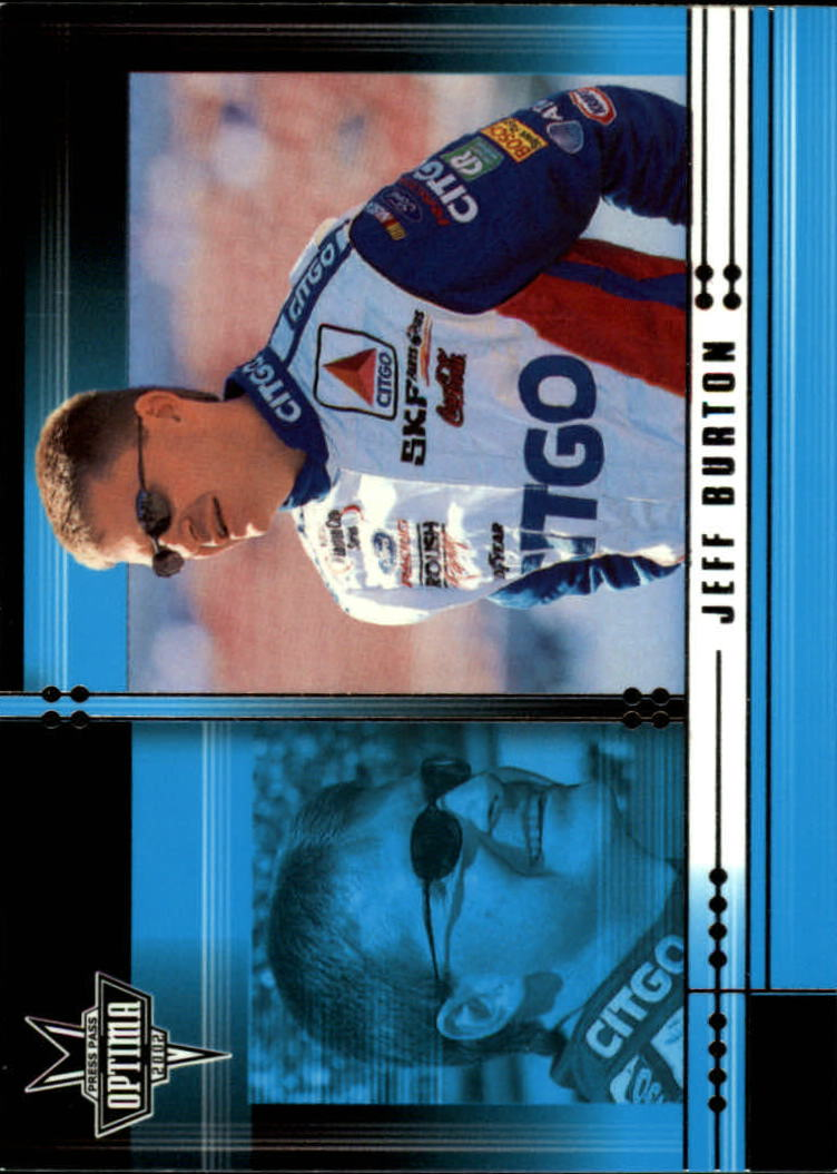 2002 Press Pass Optima #3 Jeff Burton