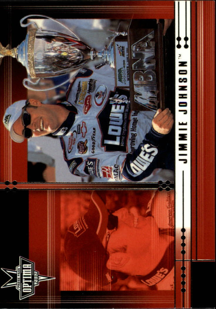 2002 Press Pass Optima #14 Jimmie Johnson CRC