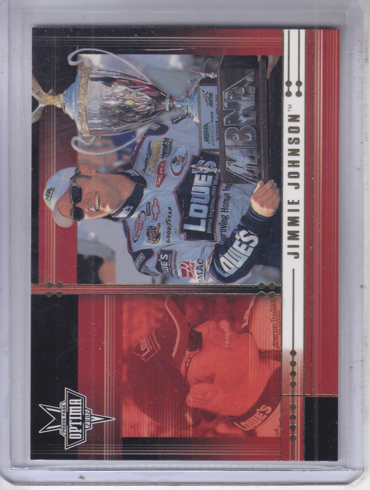 2002 Press Pass Optima Gold #14 Jimmie Johnson