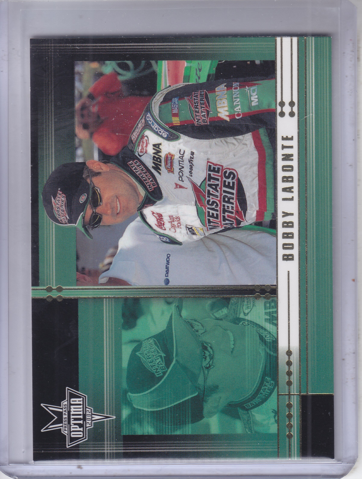 2002 Press Pass Optima Gold #16 Bobby Labonte