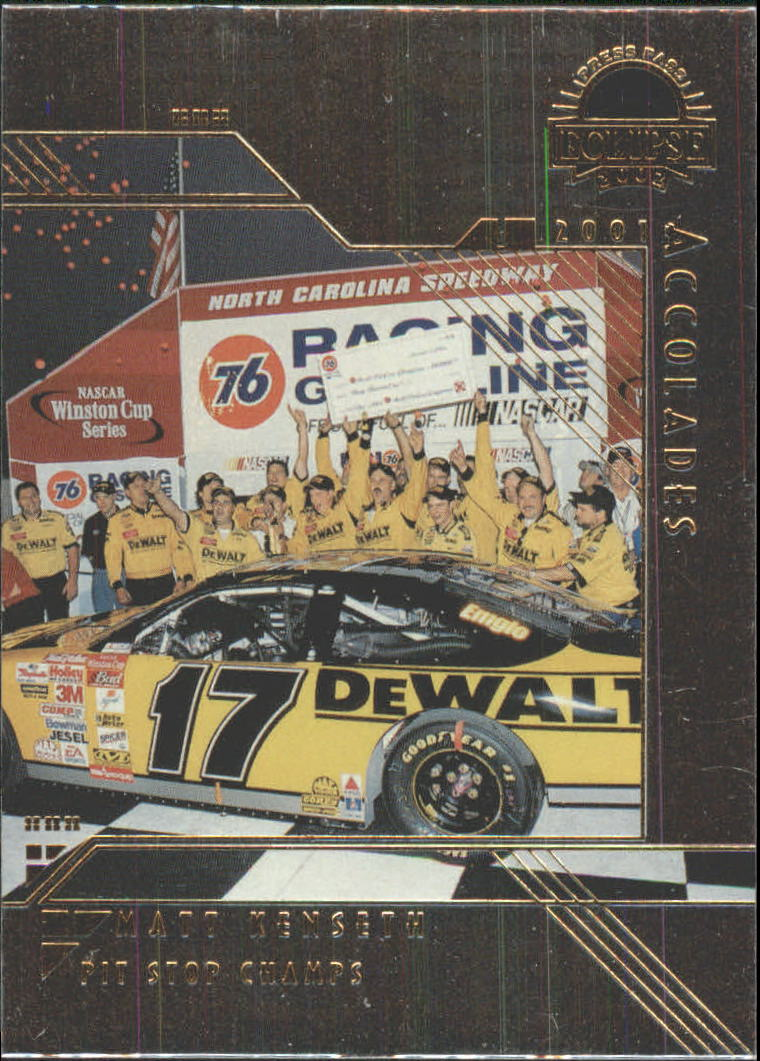 2002 Press Pass Eclipse Solar Eclipse #S37 Matt Kenseth ACC front image