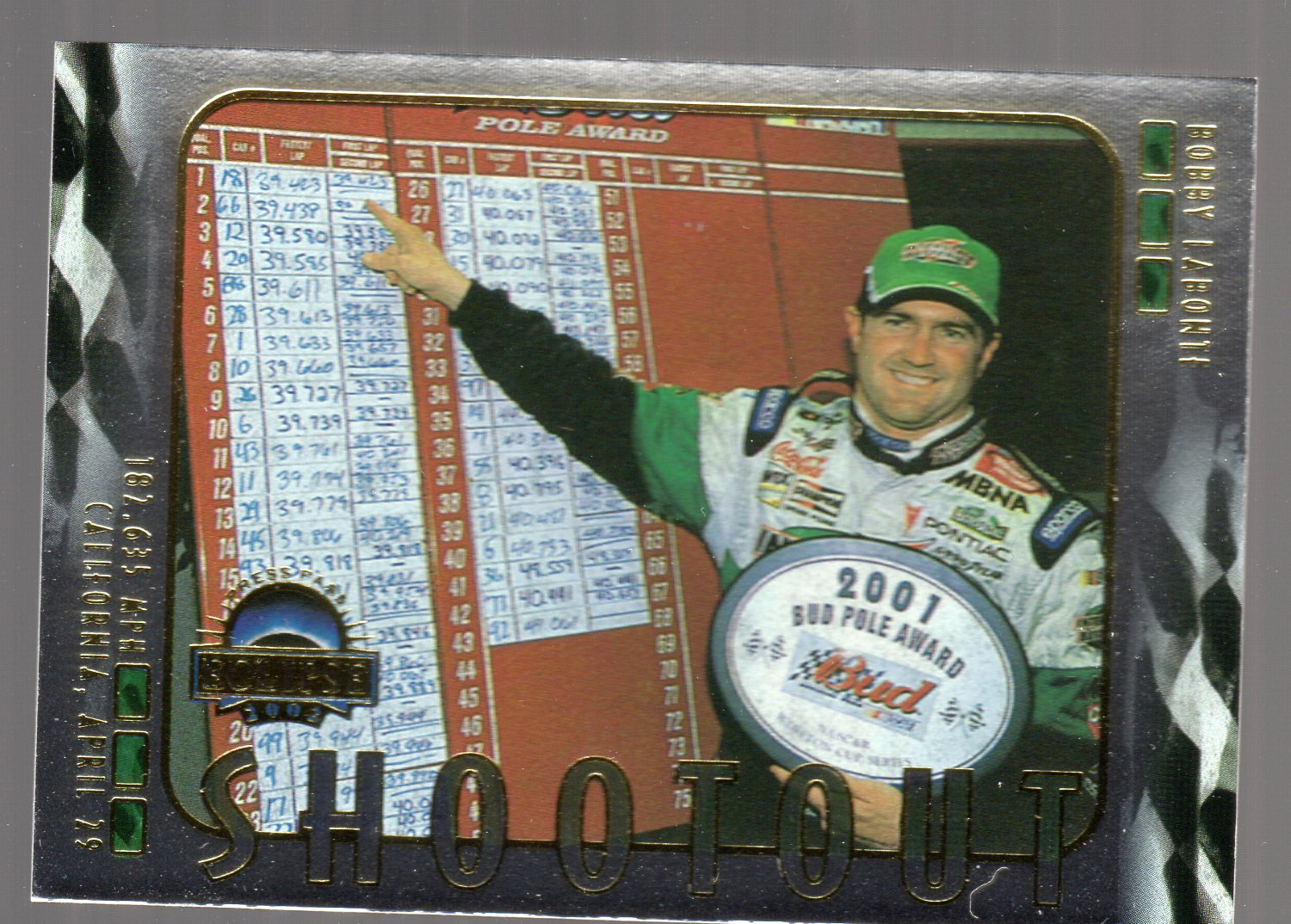 2002 Press Pass Eclipse Solar Eclipse #S42 Bobby Labonte SO