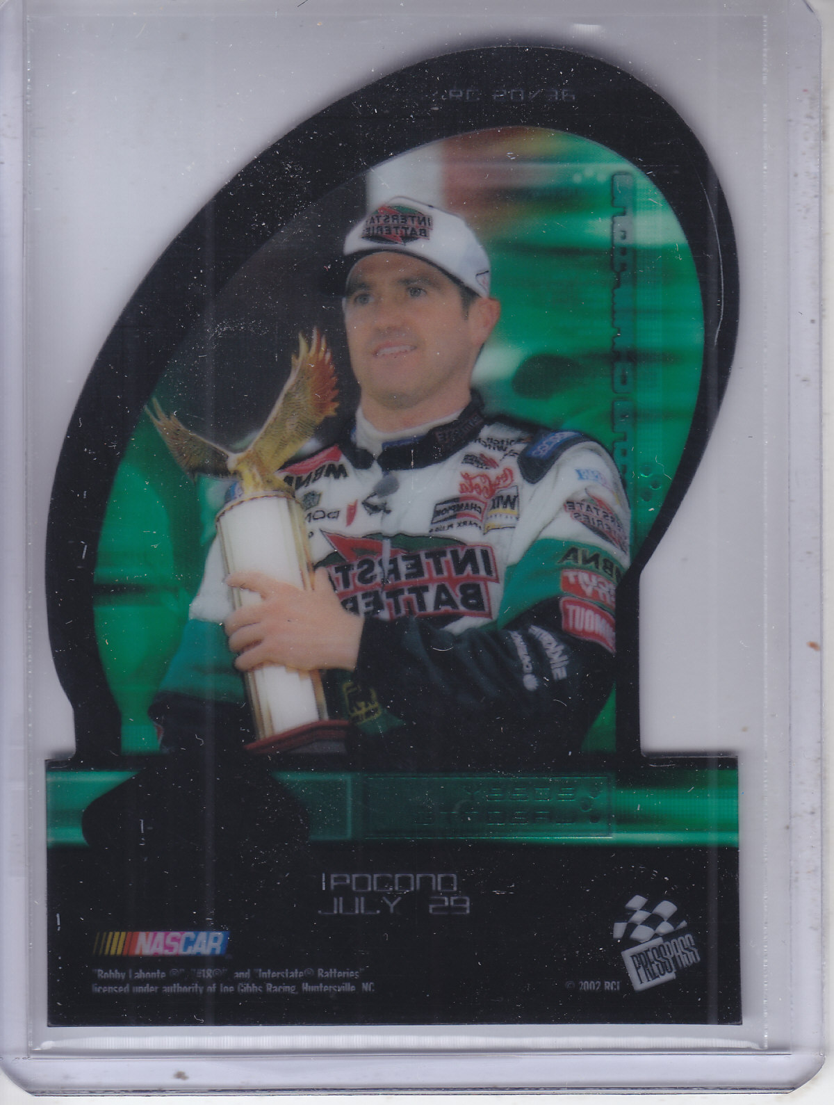 2002 Press Pass Eclipse Racing Champions #RC20 Bobby Labonte back image