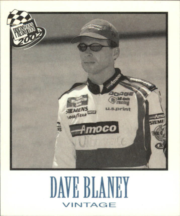 2002 Press Pass Vintage #VN1 Dave Blaney