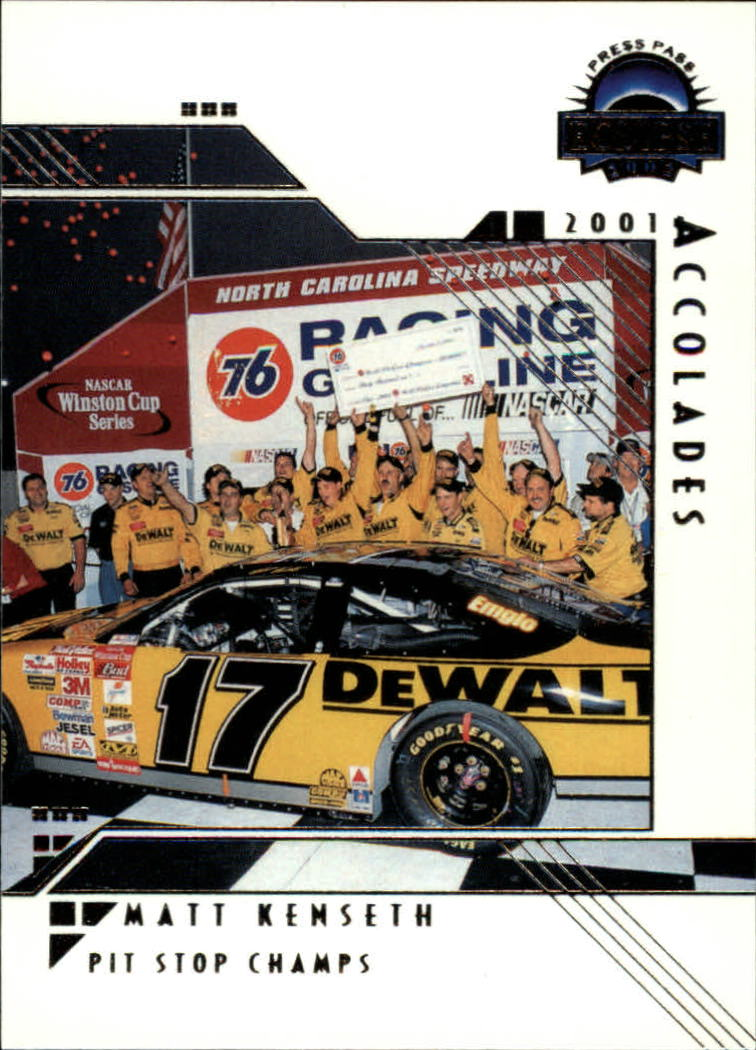 2002 Press Pass Eclipse #37 Matt Kenseth ACC front image