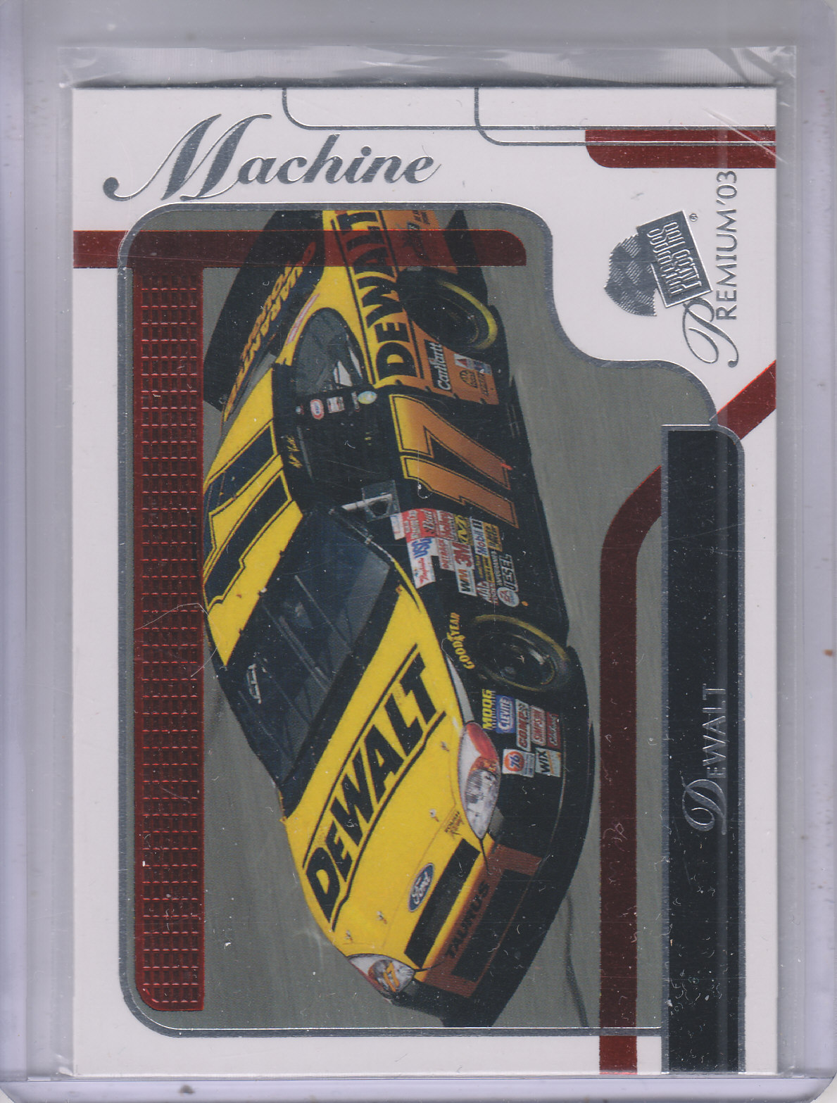 2003 Press Pass Premium Red Reflectors #42 Matt Kenseth's Car