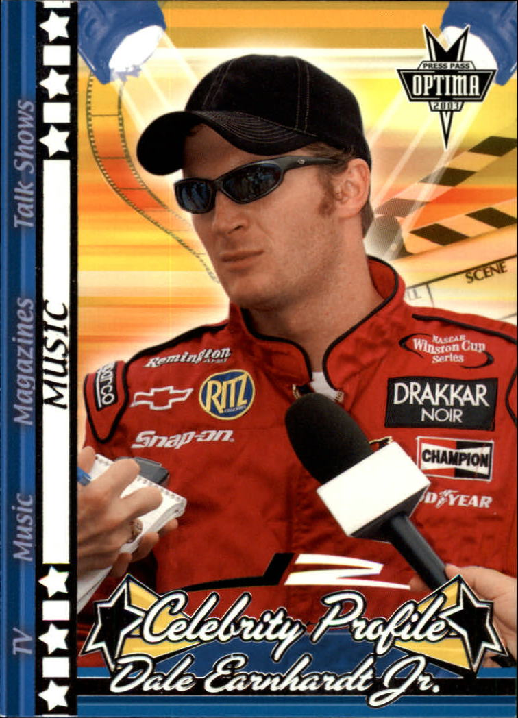 2003 Press Pass Optima #47 Dale Earnhardt Jr. Music
