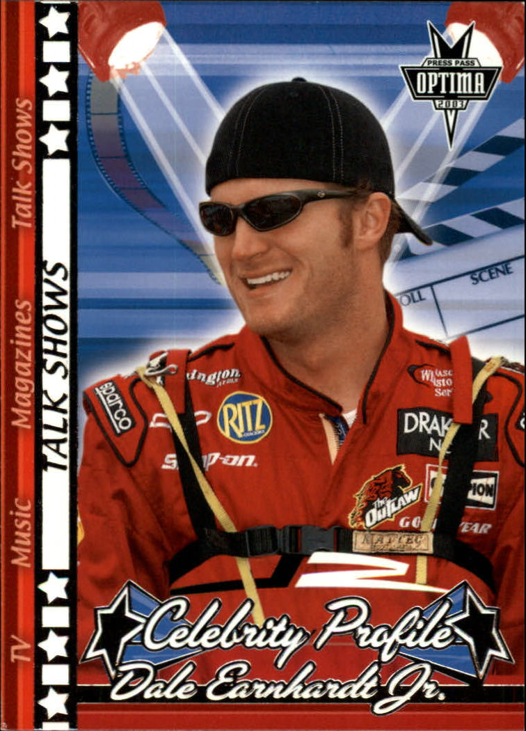 2003 Press Pass Optima #49 Dale Earnhardt Jr. Talk Shows