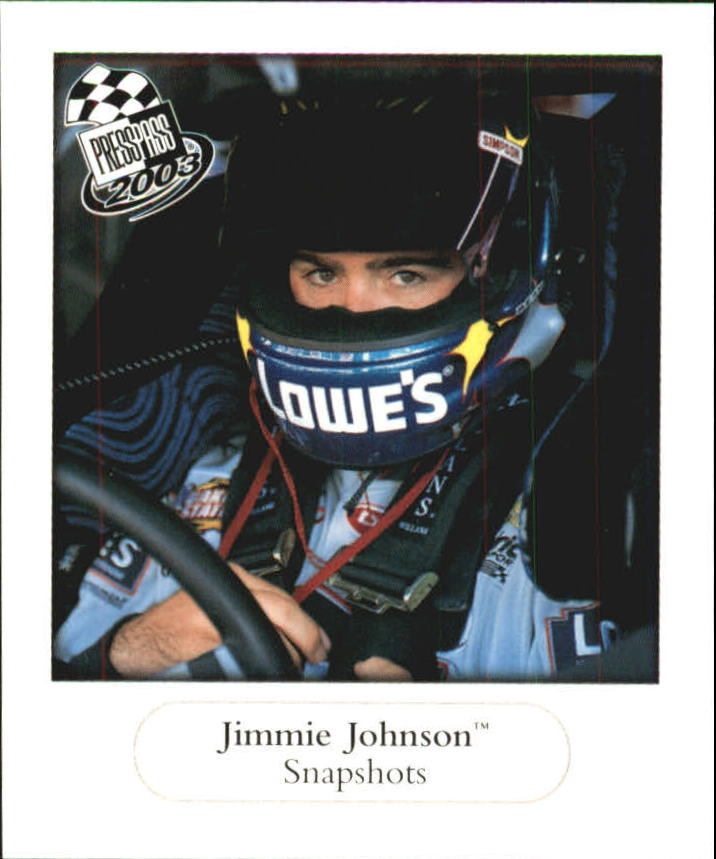 2003 Press Pass Snapshots #SN11 Jimmie Johnson