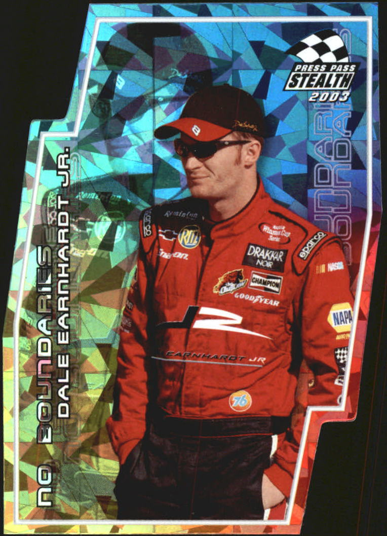 2003 Press Pass Stealth No Boundaries #NB11 Dale Earnhardt Jr.