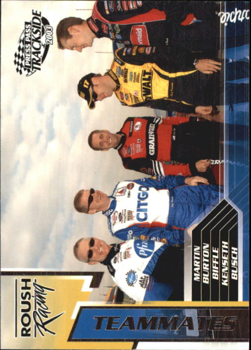 2003 Press Pass Trackside #78 Mart/J.Bur/Bif/Kens/Bus TM
