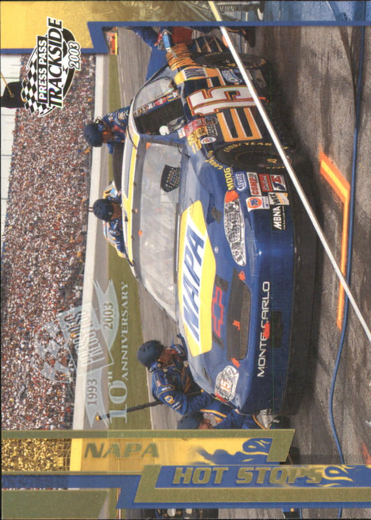 2003 Press Pass Trackside Gold Holofoil #P65 Michael Waltrip's Crew