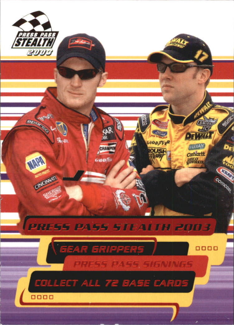 2003 Press Pass Stealth Red #P72 Dale Jr./M.Kenseth CL