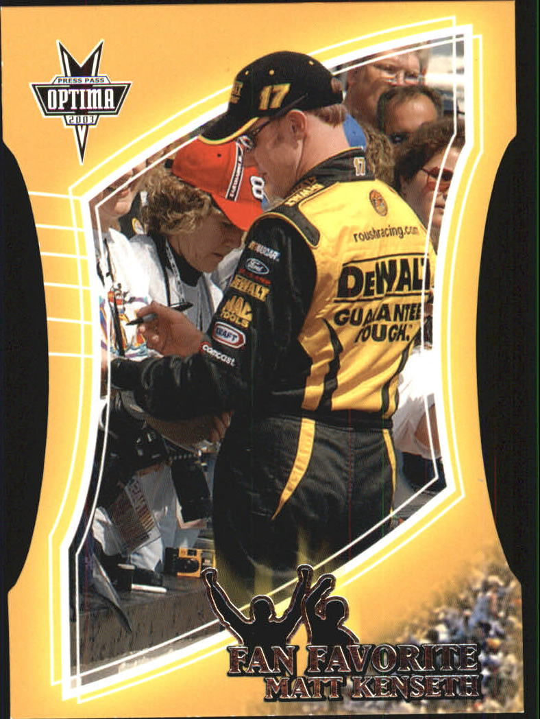 2003 Press Pass Optima Fan Favorite #FF3 Matt Kenseth