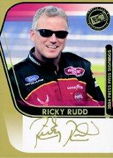 2004 Press Pass Signings Gold #50 Ricky Rudd O/P/S/T/V