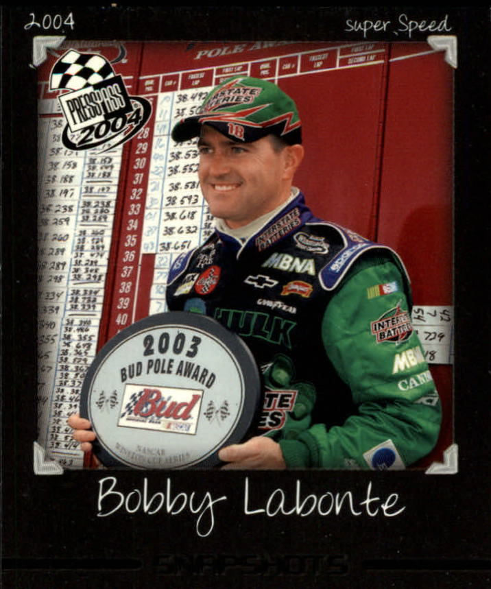 2004 Press Pass Snapshots #SN13 Bobby Labonte
