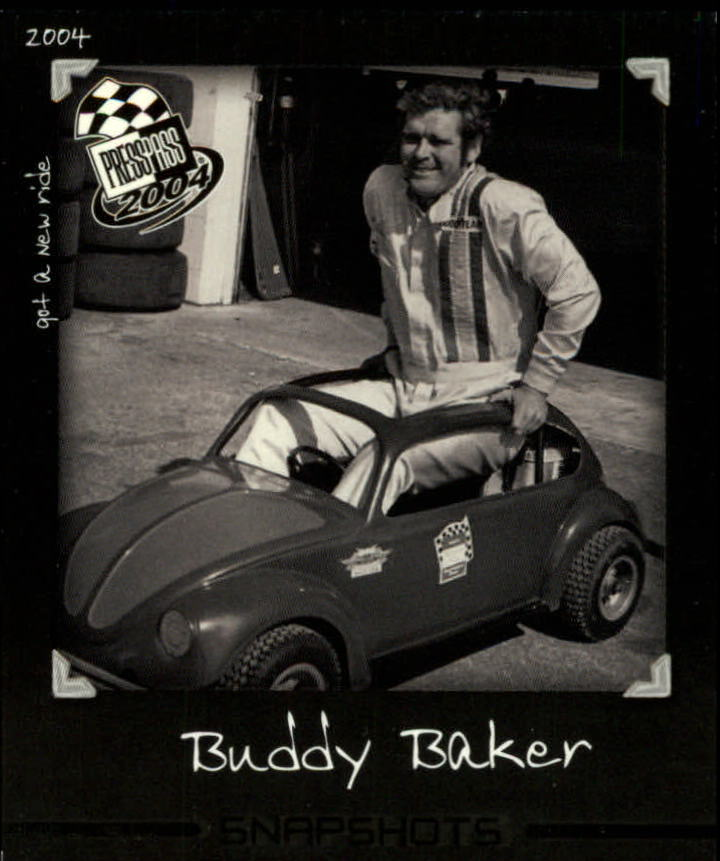 2004 Press Pass Snapshots #SN28 Buddy Baker