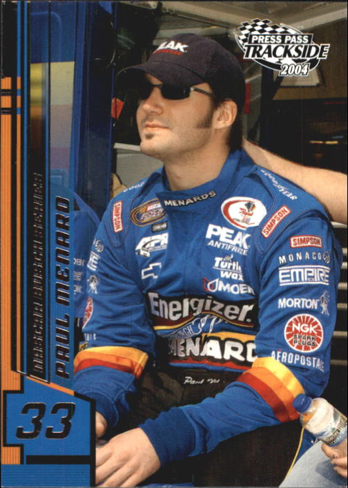2004 Press Pass Trackside #34 Paul Menard RC