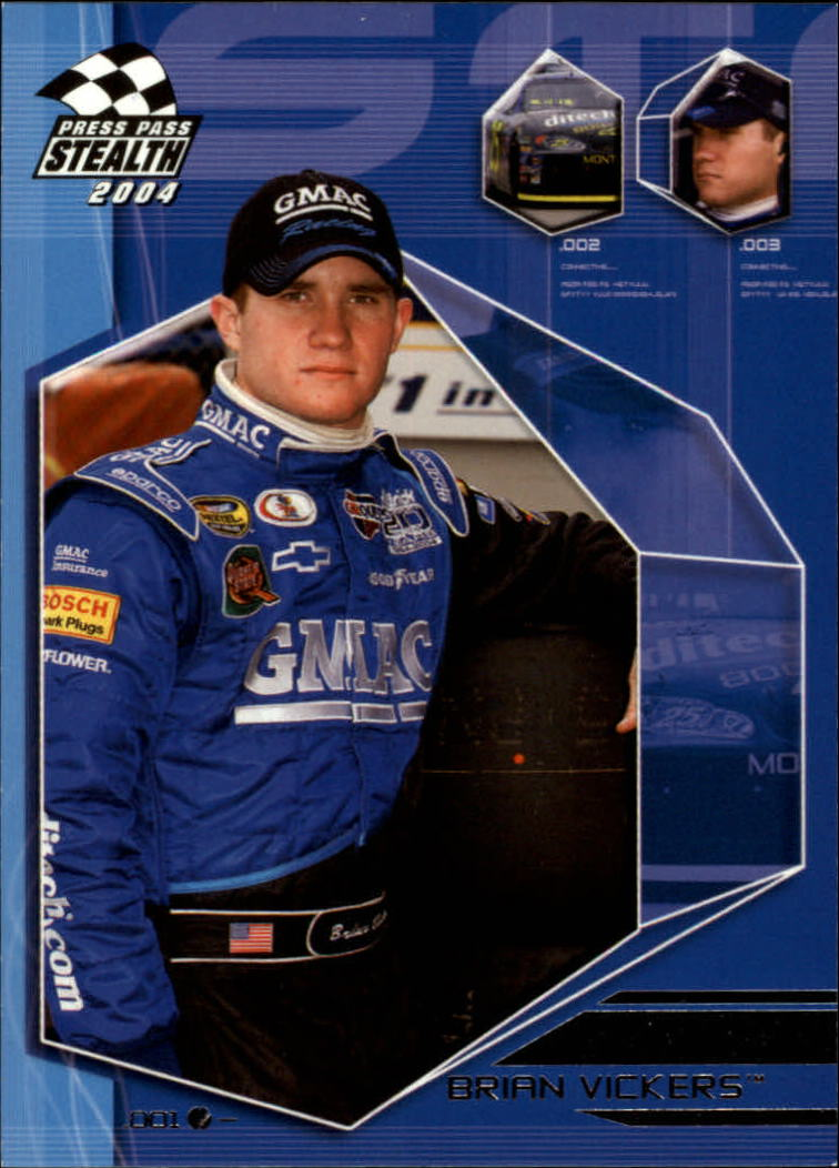 2004 Press Pass Stealth #22 Brian Vickers CRC