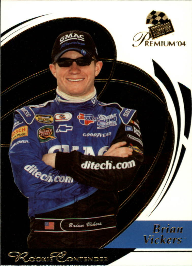 2004 Press Pass Premium #35 Brian Vickers CRC