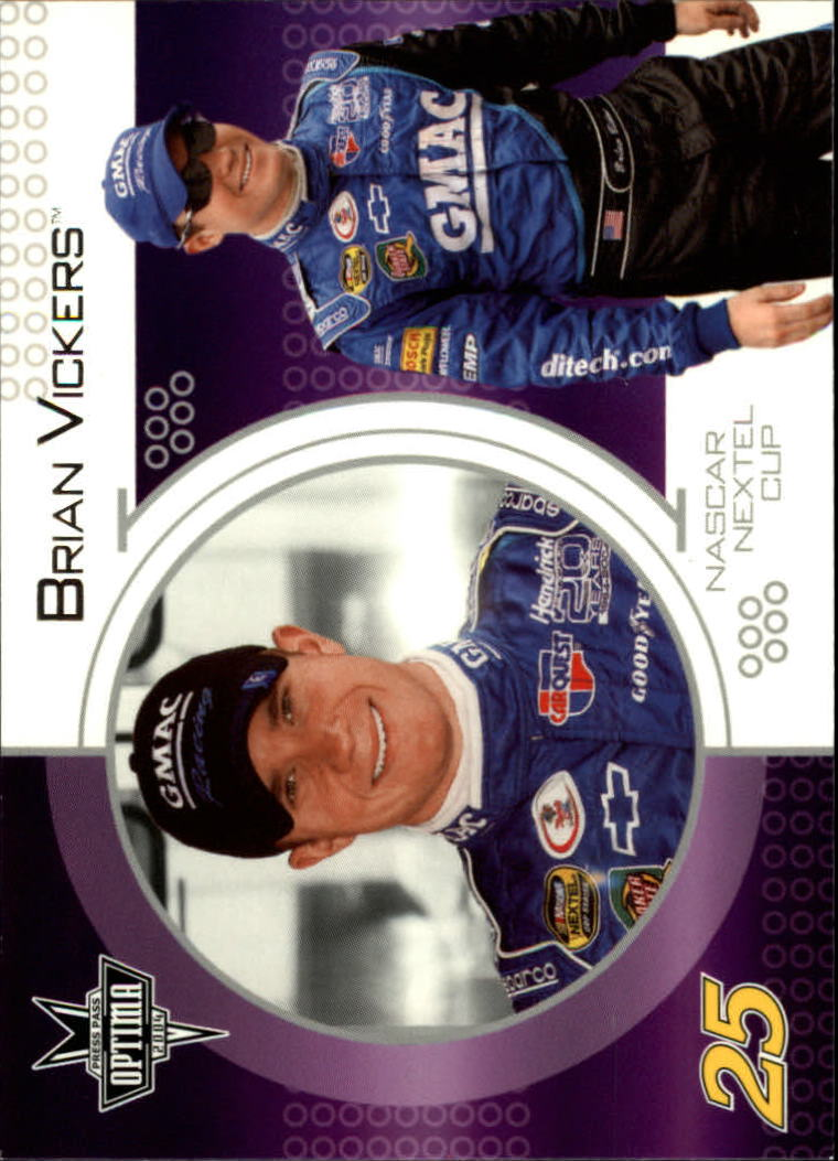 2004 Press Pass Optima #25 Brian Vickers CRC