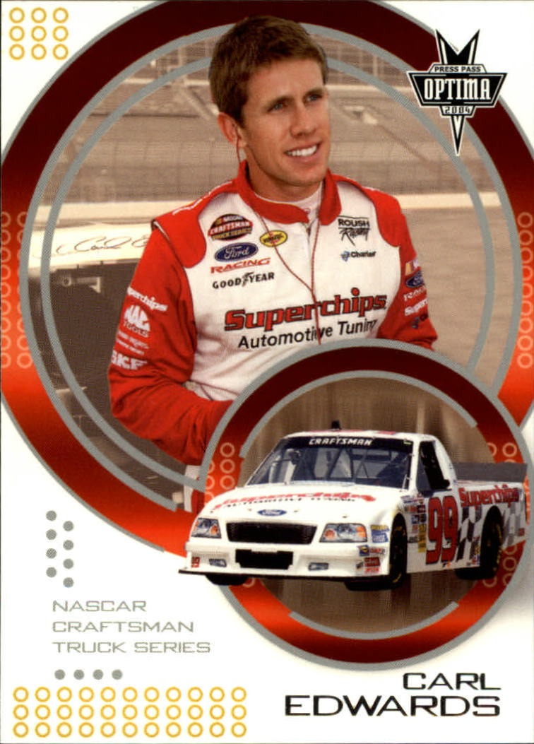 2004 Press Pass Optima #42 Carl Edwards