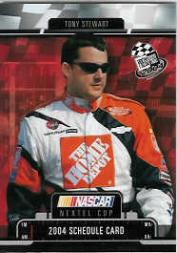 2004 Press Pass Schedule #4 Tony Stewart