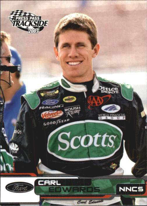 2005 Press Pass Trackside #28 Carl Edwards CRC front image