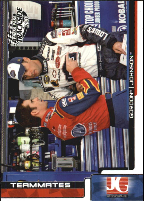 2005 Press Pass Trackside #70 J.Gordon/J.Johnson TM