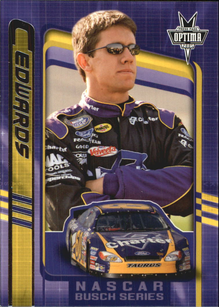 2005 Press Pass Optima #32 Carl Edwards BGN