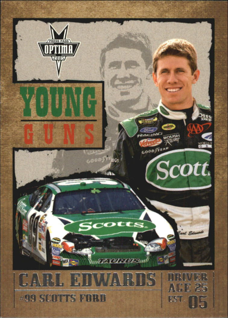 2005 Press Pass Optima #50 Carl Edwards YG front image