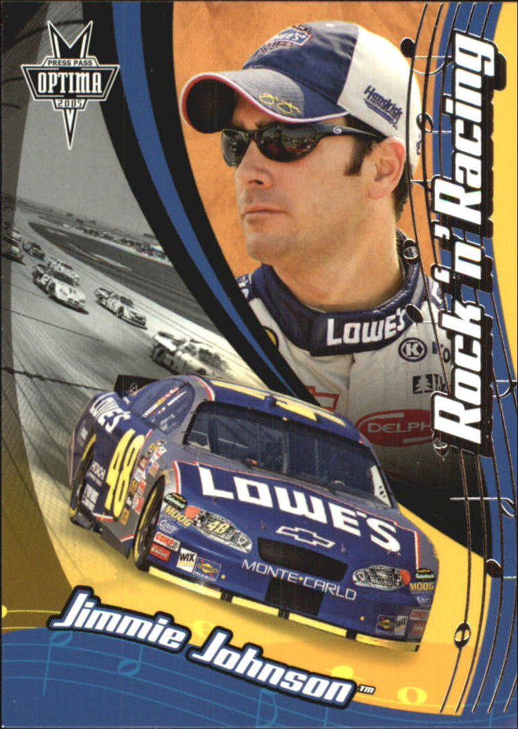 2005 Press Pass Optima #62 Jimmie Johnson RR