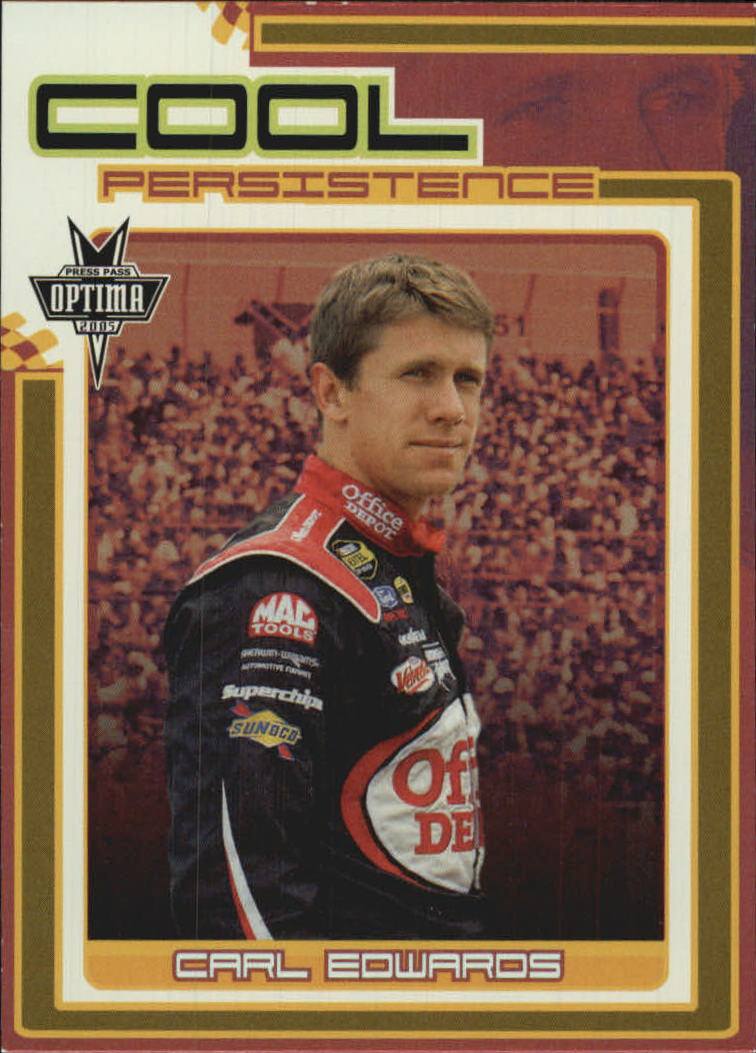 2005 Press Pass Optima Cool Persistence #CP6 Carl Edwards