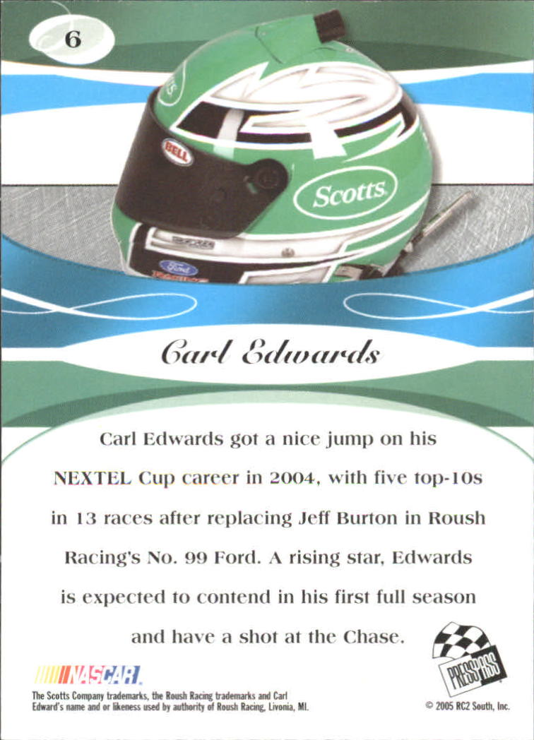 2005 Press Pass Premium #6 Carl Edwards CRC back image