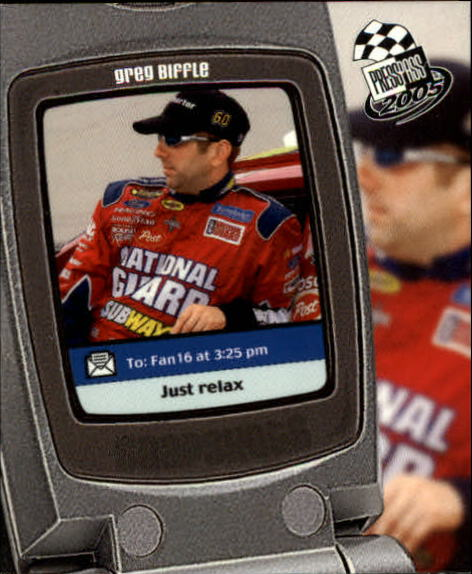 2005 Press Pass Snapshots #SN1 Greg Biffle